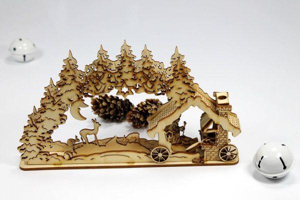 božićna dekoracija - božićno selo