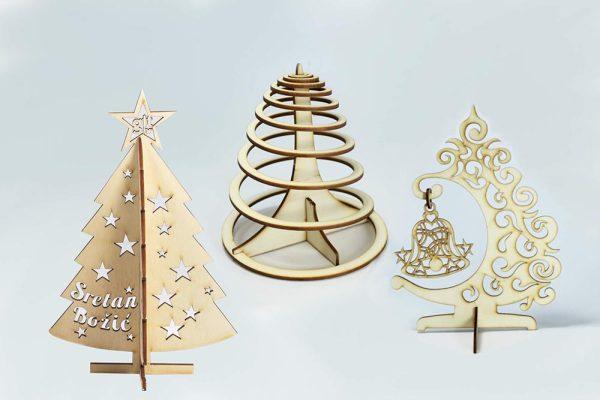 božićna dekoracija - borići čestitke