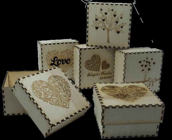 gravirane kutije - razni uzorci