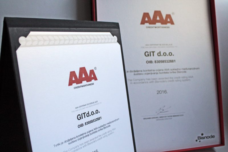 AAA certifikat