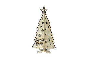 božićna drvena čestitka