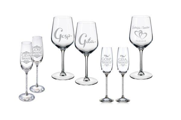 primjer čaše sa gravurom