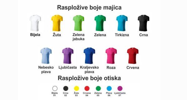 raspoložive boje majica