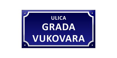 primjer - natpis ulica